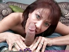 Slutty mature brunette demonstrates all her charms.
